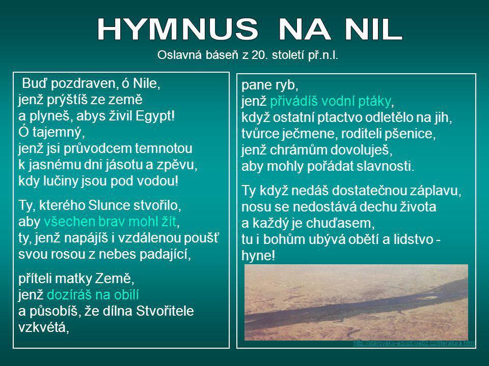 Významní panovníci TUTANCHAMÓN - významný spíše pro nás svou velkolepou hrobkou (zemřel velmi mladý) - jeho jméno napovídá, že po smrti Achnatóna, se navrátily staré pořádky – obnovilo se původní náboženství – víra v boha Amóna - zhlédni práci archeologů: - Nové objevy, pradávné záhady - Ztracené hrobky z Théb 1 vláda 18.