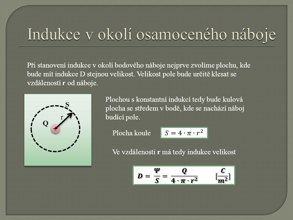 S Q Mezi dvěma rovinnými elektrodami lze uvažovat homogenní pole.