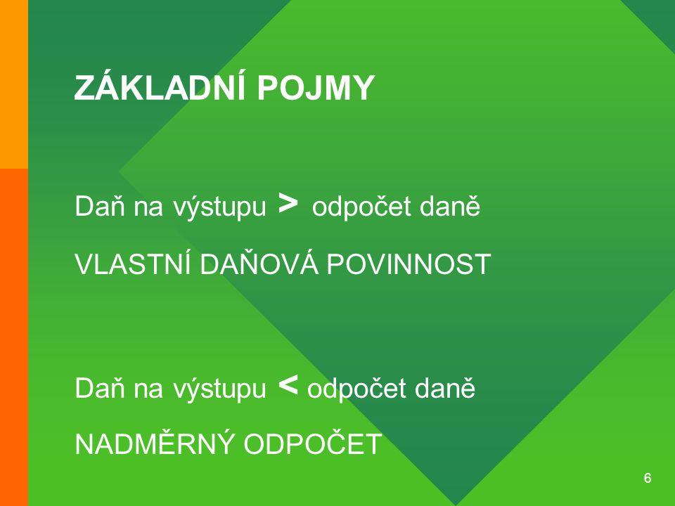 17 SAZBA DANĚ Sazba v ČR je lineární a diferencovaná.