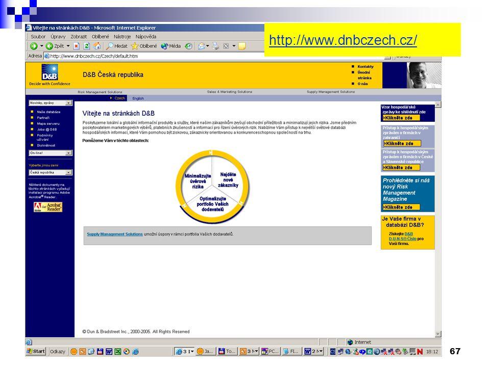 67 http://www.dnbczech.cz/
