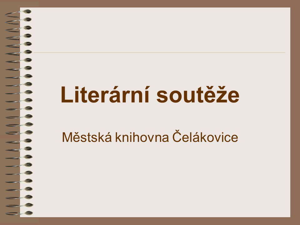 Literární soutěže Městská knihovna Čelákovice