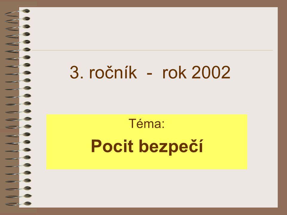 3. ročník - rok 2002 Téma: Pocit bezpečí