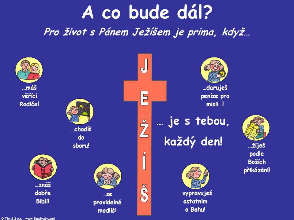 …máš věřící Rodiče! …chodíš do sboru! …znáš dobře Bibli! …se pravidelně modlíš! …žiješ podle Božích přikázání! …vypravuješ ostatním o Bohu! …daruješ p