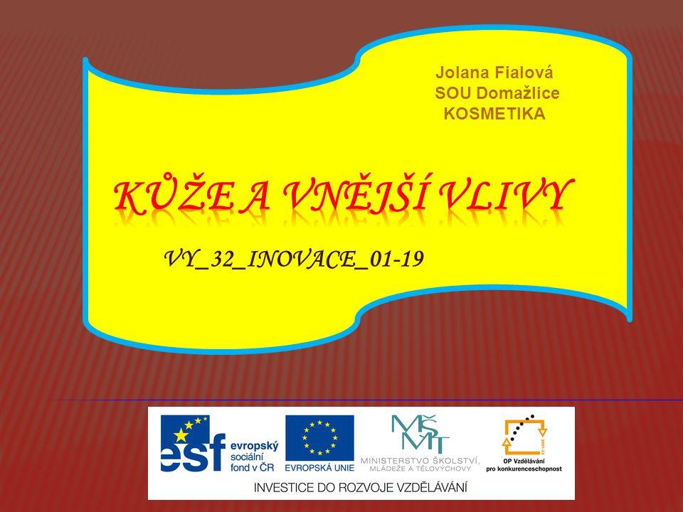 VY_32_INOVACE_01-19 Jolana Fialová SOU Domažlice KOSMETIKA