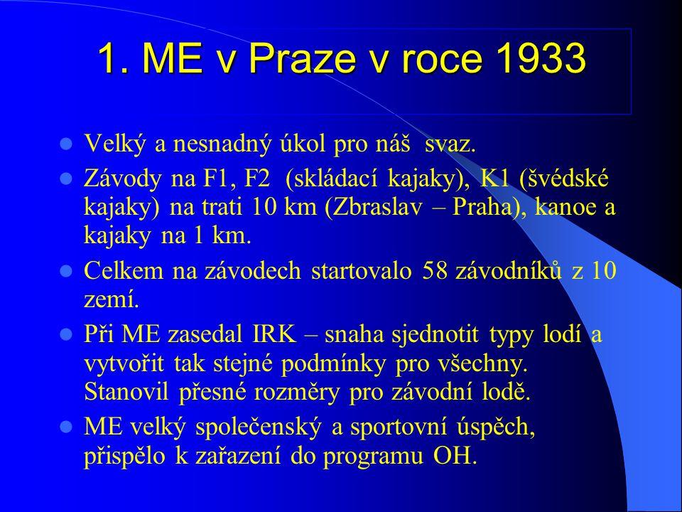 Kanoistické soutěže na programu OH v Berlíně 1936  Předseda svazu JUDr.