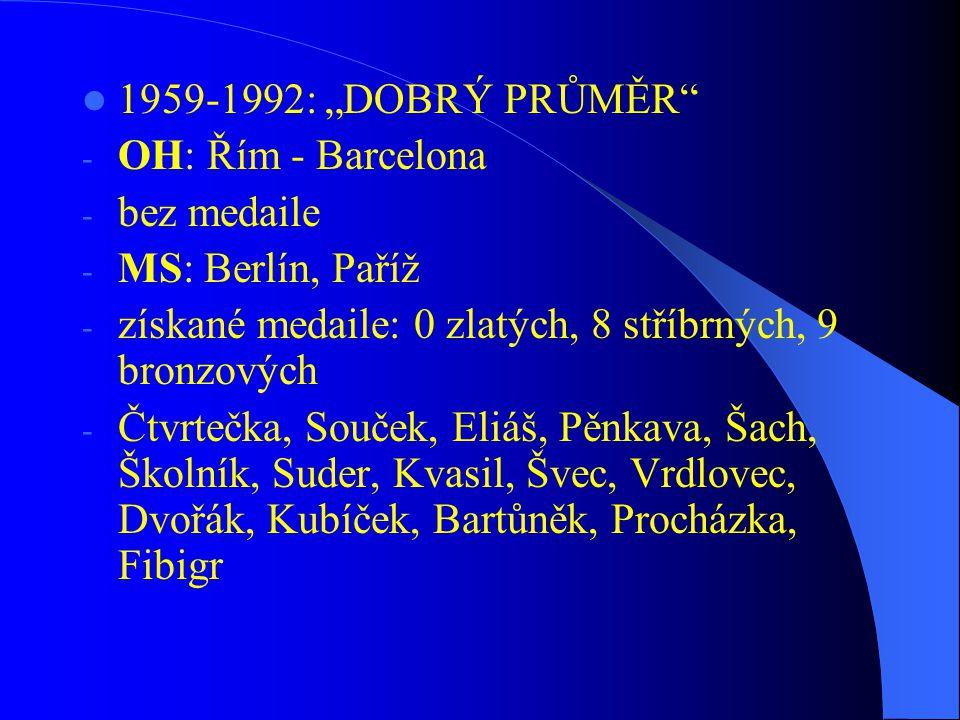  1993-současnost: ÉRA MARTINA DOKTORA - OH: Atlanta, Sydney, Athény, Peking - získané medaile: 2 zlaté, 0 stříbrných, 0 bronzových (Martin Doktor) - MS: Kodaň-Duisburg - celkem: 3 zlaté, 15 stříbrných, 6 bronzových - z toho: 2 zlaté, 9 stříbrných a 3 bronzové získal Martin Doktor a 1 zlatou, 4 stříbrné a 4 bronzové C4 200m - M.