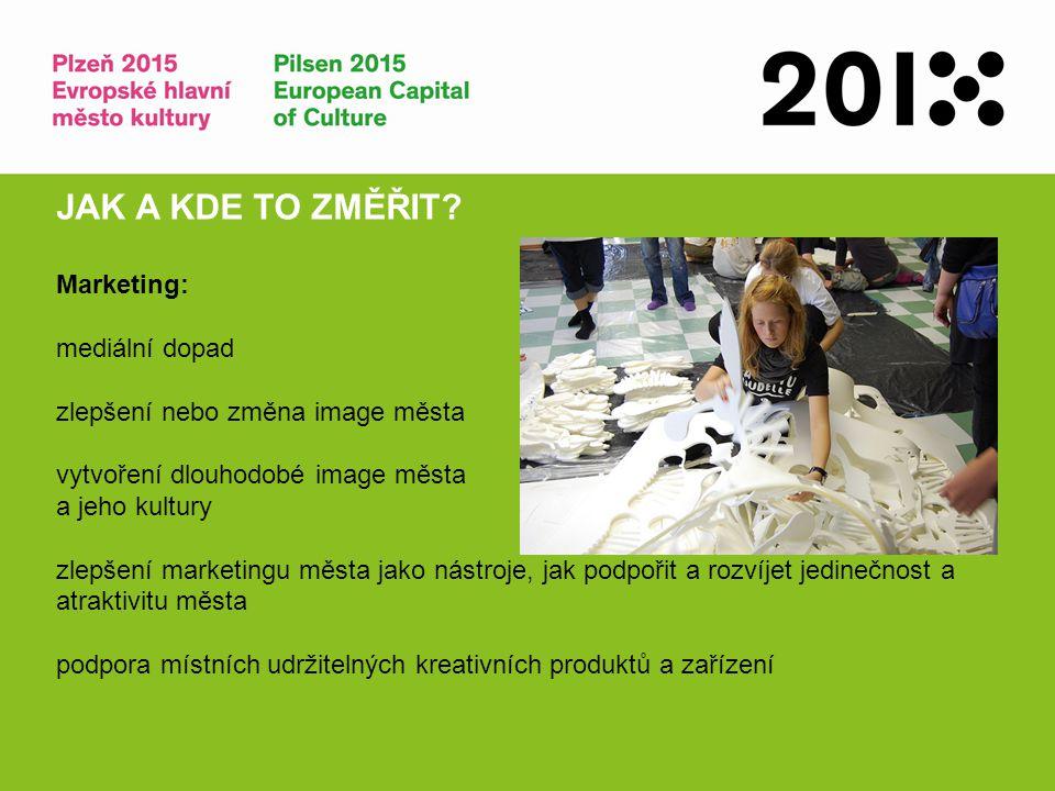 Infrastruktura: dlouhodobé investice do kulturní infrastruktury stimulace a transformace městského rozvoje rozvoj nového kreativního designu JAK A KDE TO ZMĚŘIT?
