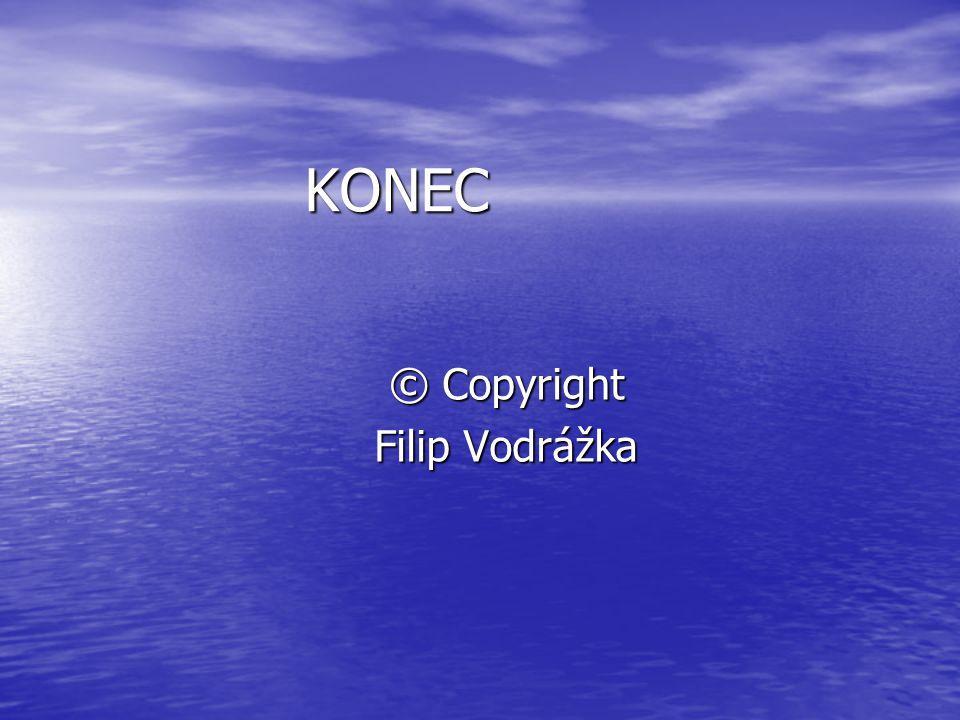KONEC © Copyright Filip Vodrážka