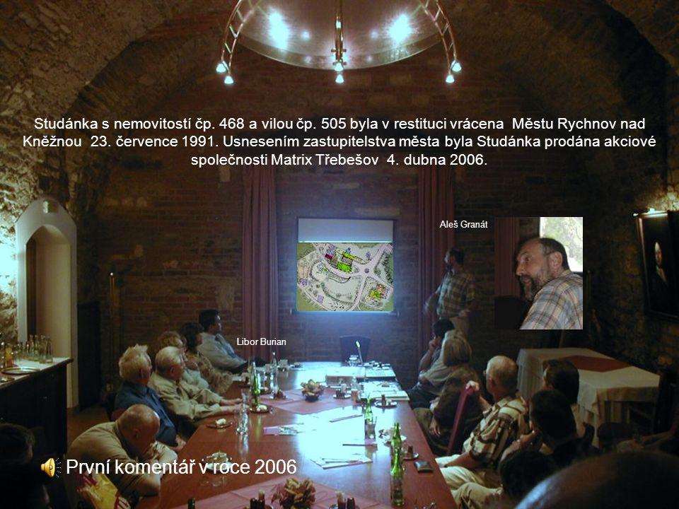Studánka plány obnovy V oblastním archivu na kolowratském zámku jsou uloženy plány obnovy Studánky z října 1943 ING DR. ADOLFA LIEBSCHERA, ÚŘ. AUT. CI
