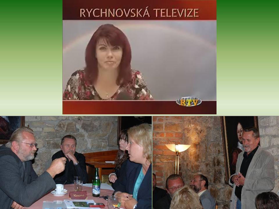 """Prezentace konečné podoby projektu """"Znovuobnovení letoviska Studánka"""" před započetím výstavby 18. října 2008 v hodovním sále hotelu Havel"""