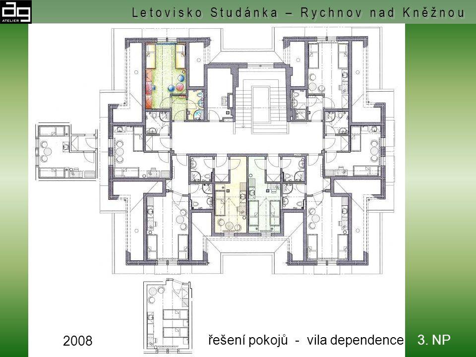řešení pokojů - vila dependence - 2. NP L e t o v i s k o S t u d á n k a – R y c h n o v n a d K n ě ž n o u 2008