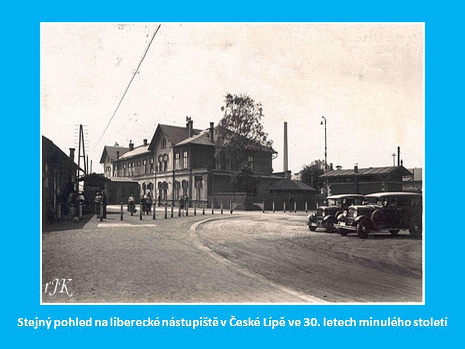 Po zaústění tratě z Liberce v r. 1883 se stala Česká Lípa stanicí s ostrovním nástupištěm