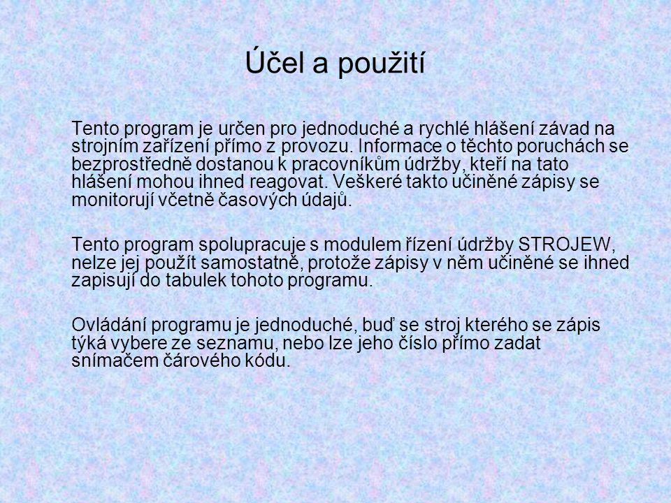 Technické podmínky Pro svou činnost program potřebuje pouze jakýkoliv počítač s operačním prostředím WINDOWS.
