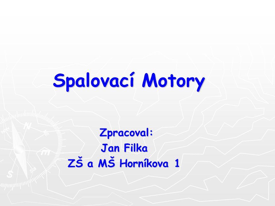 Spalovací Motory Zpracoval: Zpracoval: Jan Filka ZŠ a MŠ Horníkova 1