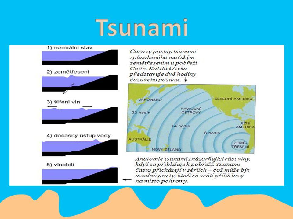 Mořské dno se náhle pohne po sérii prudkých otřesů z podmořského zemětřesení. Ty to otřesy vyšlou vibrace z mořských hlubin směrem k povrchu a vytvoří