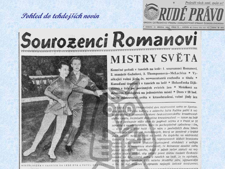 """Poprvé mistry světa v tancích na ledě – Praha 1962 Pavel nesměle pronáší své přání: """"Miluji rychlost. Moc bych si přál terénní motorku."""