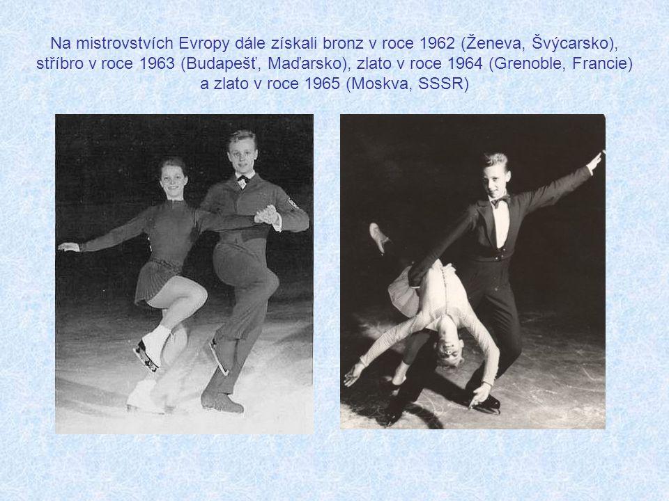 Na mistrovstvích Evropy dále získali bronz v roce 1962 (Ženeva, Švýcarsko), stříbro v roce 1963 (Budapešť, Maďarsko), zlato v roce 1964 (Grenoble, Francie) a zlato v roce 1965 (Moskva, SSSR)