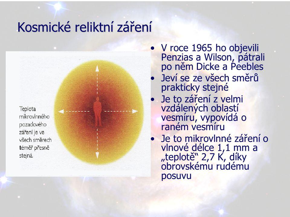 Velký třesk a vznik galaxií