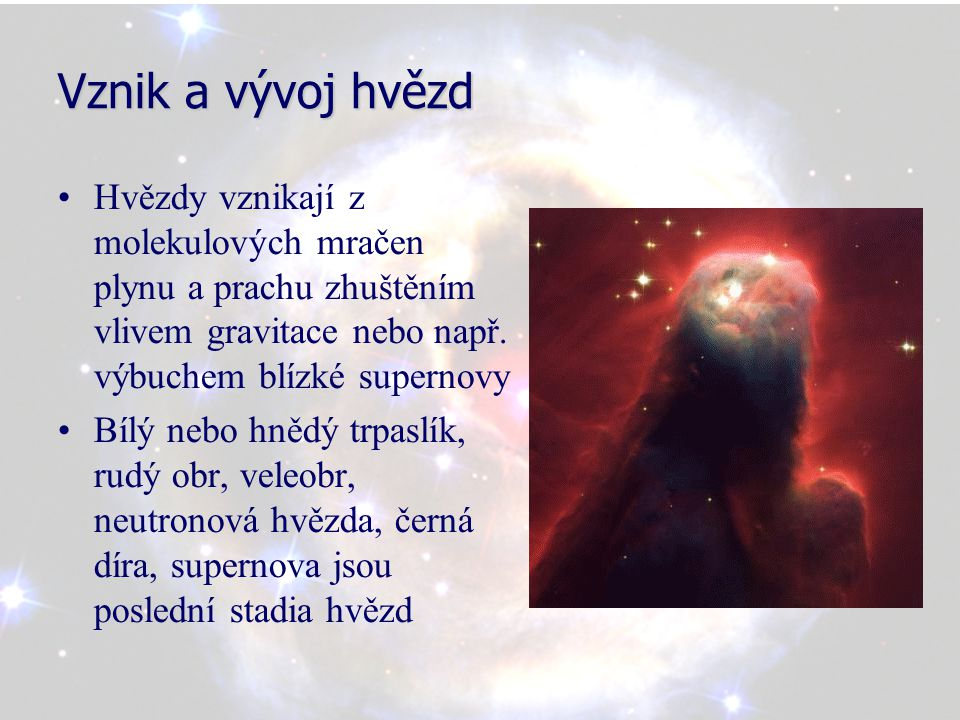 Vznik a vývoj hvězd
