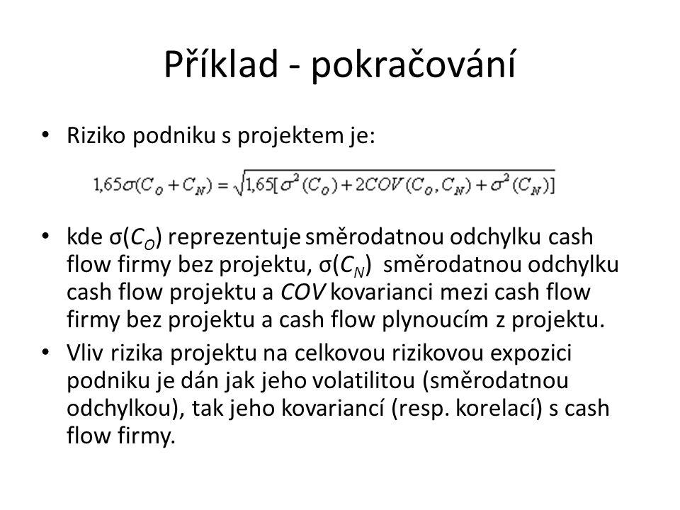 Příklad - pokračování • V případě, že nelze stanovit analyticky rozdělení cash-flow podniku, můžeme aplikovat simulace Monte Carlo.