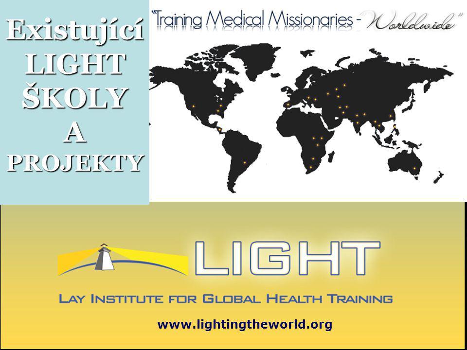 Existující LIGHT ŠKOLY A PROJEKTY www.lightingtheworld.org