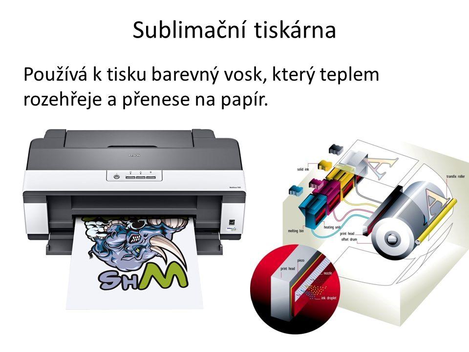 Sublimační tiskárna