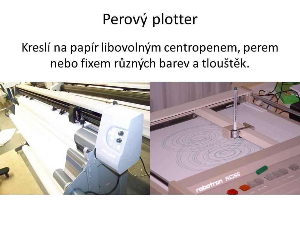 Souřadnicový zapisovač Miniaturní plotter domácí výroby.