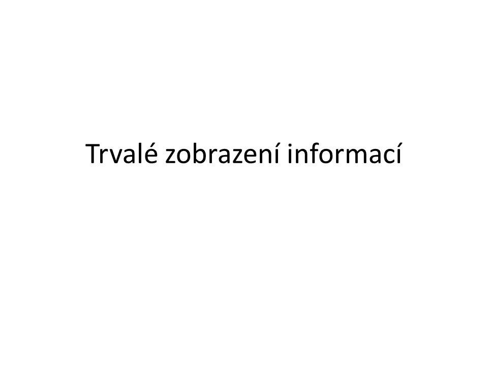 Trvalé zobrazení informací