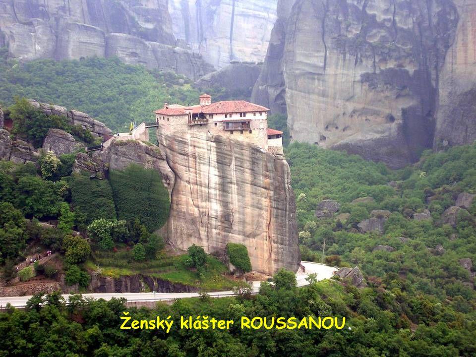 Megalo Meteoron - nejstarší a nejvýš položený klášter (632 m).