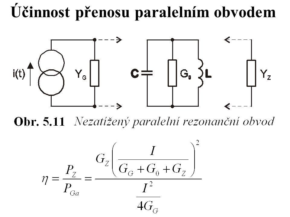 Účinnost přenosu paralelním obvodem