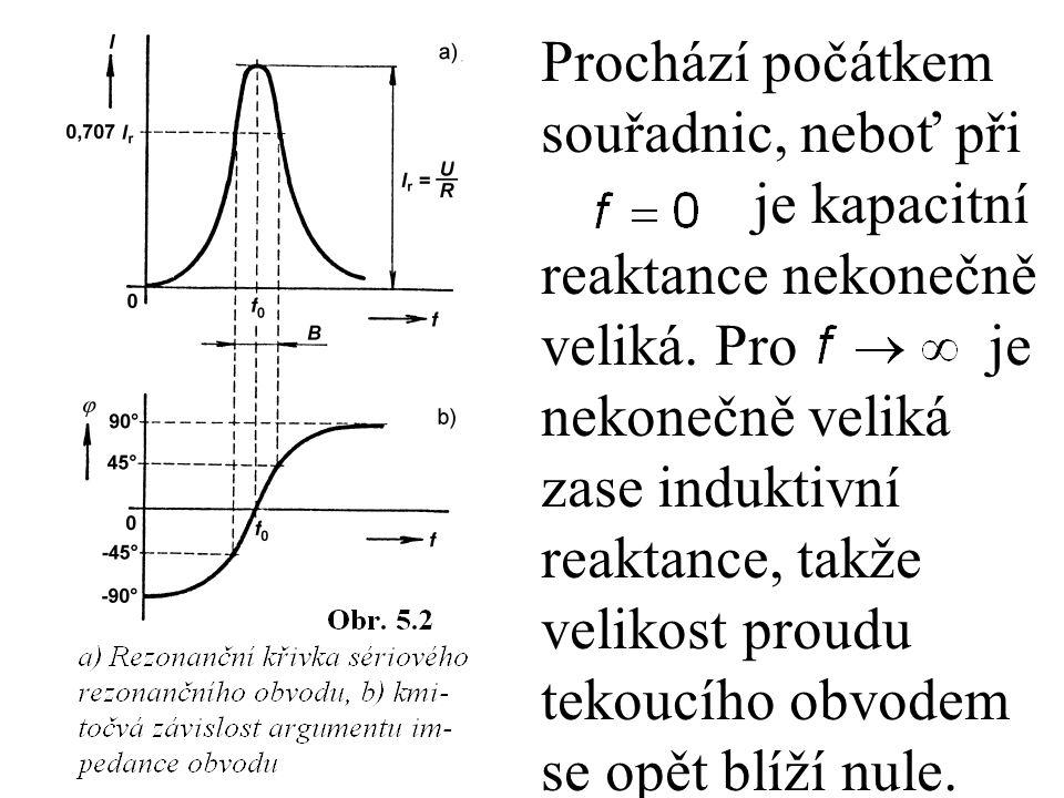 Činitel jakosti Q je přímo úměrný charakteristické impedanci obvodu vyjádřené ve tvaru Je-li tedy sériový rezonanční obvod naladěný na kmitočet, potom při konstantní hodnotě odporu R můžeme změnit jeho činitel jakosti změnou poměru L/C.