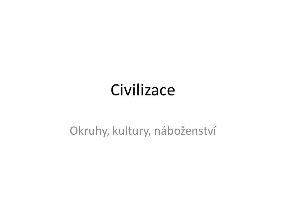 Definice civilizace (dle Wiki) • Civilizace = komplexní společnostspolečnost • Z technického, antropologického, hlediska odlišujeme civilizaceantropologického • - v nichž žije mnoho lidí ve městech a odebírá jídlo vyrobené v zemědělstvíměstechzemědělství • - lovecko-sběračských skupin a kmenových společností, v nichž lidé žijí v malých osadách nebo kočovných skupinách a živí se sběrem, lovem nebo prací na malých zahrádkách.