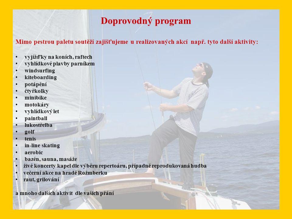 Doprovodný program Mimo pestrou paletu soutěží zajišťujeme u realizovaných akcí např.