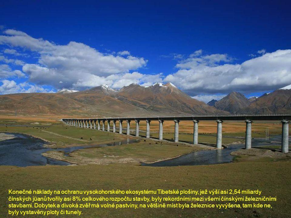 Konečné náklady na ochranu vysokohorského ekosystému Tibetské plošiny, jež výší asi 2,54 miliardy čínských jüanů tvořily asi 8% celkového rozpočtu sta