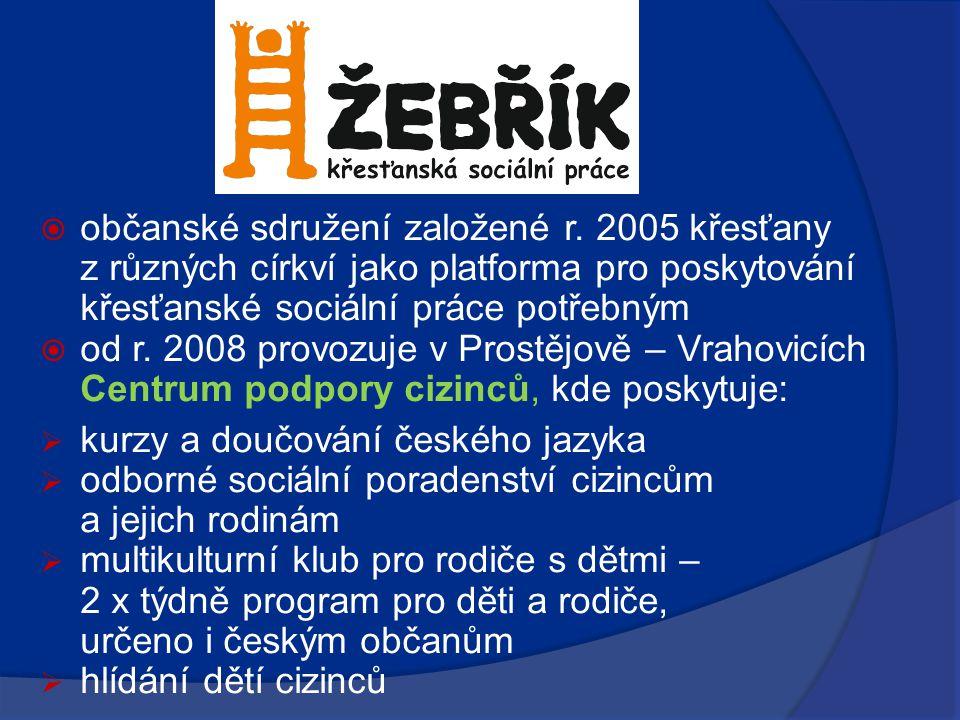  občanské sdružení založené r. 2005 křesťany z různých církví jako platforma pro poskytování křesťanské sociální práce potřebným  od r. 2008 provozu