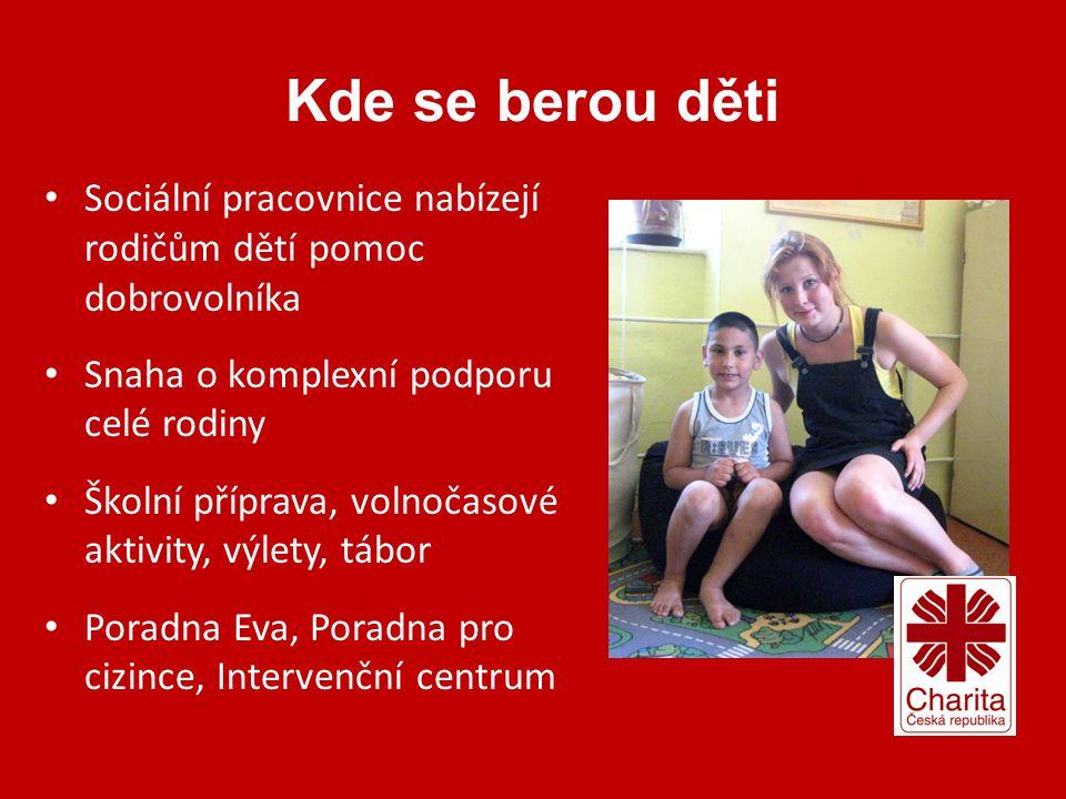 Kde se berou děti • Sociální pracovnice nabízejí rodičům dětí pomoc dobrovolníka • Snaha o komplexní podporu celé rodiny • Školní příprava, volnočasov