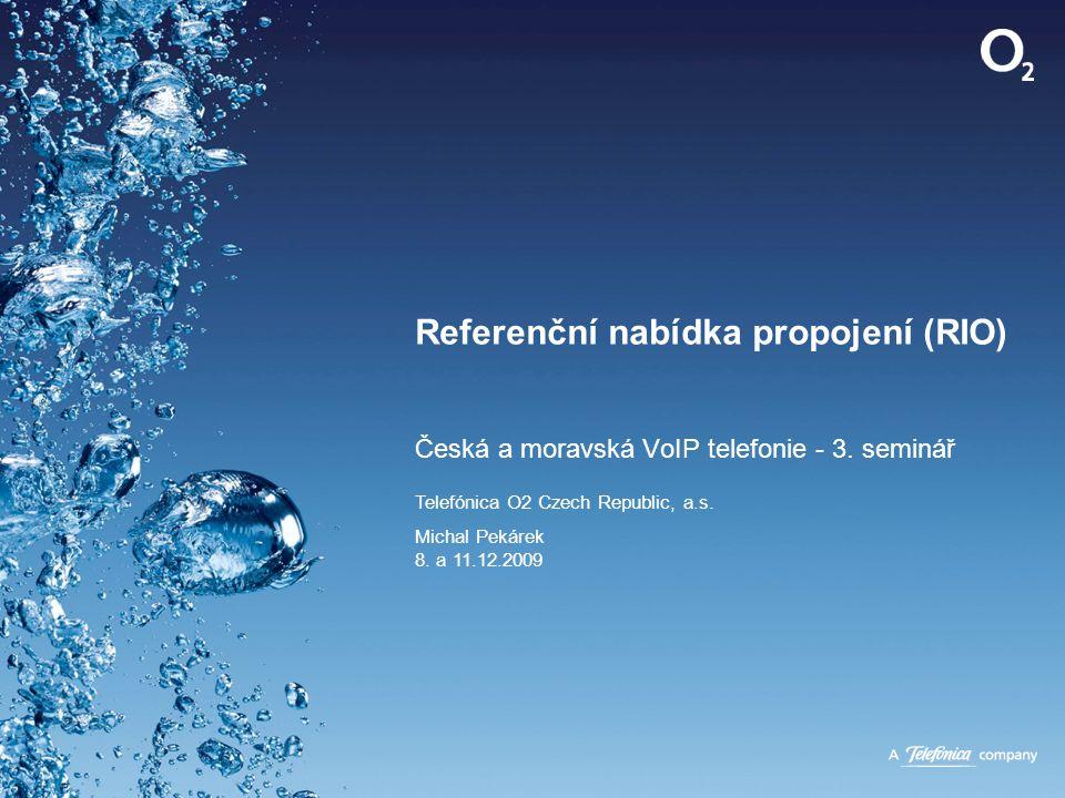 Referenční nabídka propojení (RIO) 20 June 2014 Confidential Historie referenční nabídky propojení (RIO) pevné sítě O 2 •úplně první referenční nabídka propojení byla vydána 20.