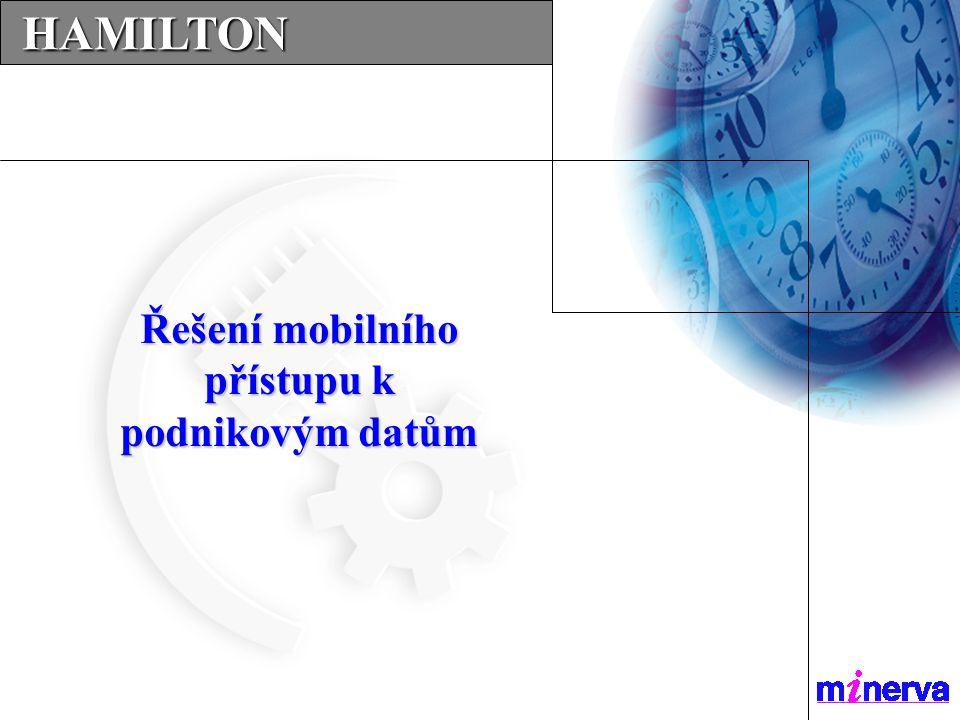 …SERVICES…SERVICES…SERVICES... HAMILTON HAMILTON Řešení mobilního přístupu k podnikovým datům