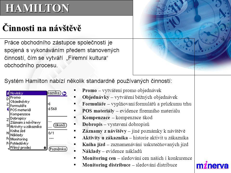  Promo – vytváření promo objednávek  Objednávky – vytváření běžných objednávek  Formuláře – vyplňovaní formulářů a průzkumu trhu  POS materiály –