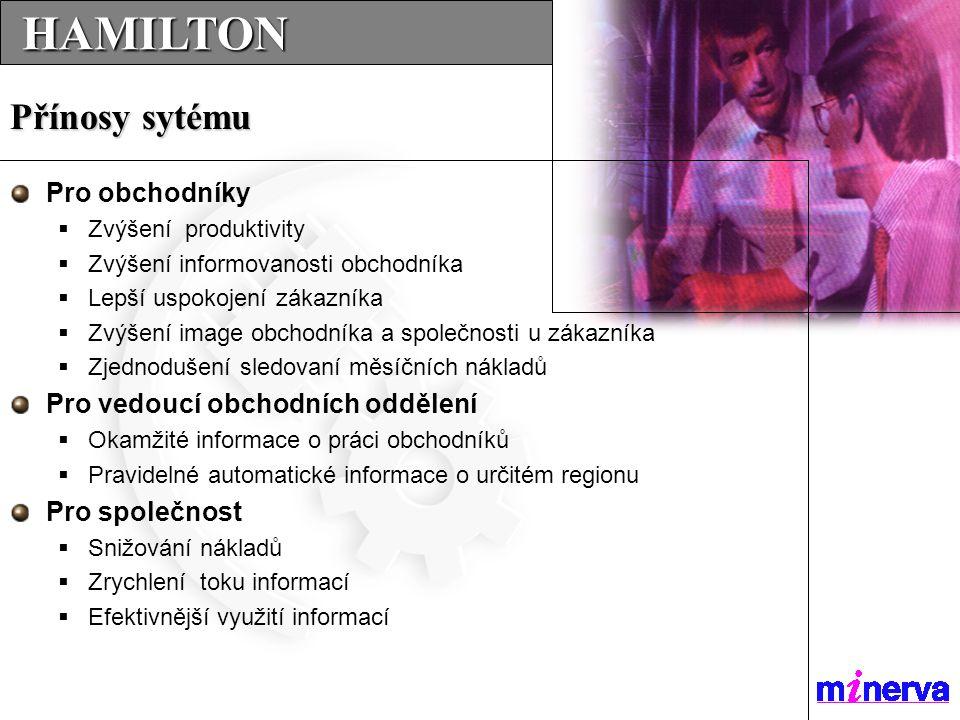 …SERVICES…SERVICES…SERVICES... HAMILTON HAMILTON Pro obchodníky  Zvýšení produktivity  Zvýšení informovanosti obchodníka  Lepší uspokojení zákazník
