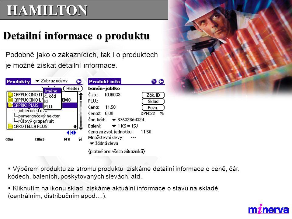  Výběrem produktu ze stromu produktů získáme detailní informace o ceně, čár.