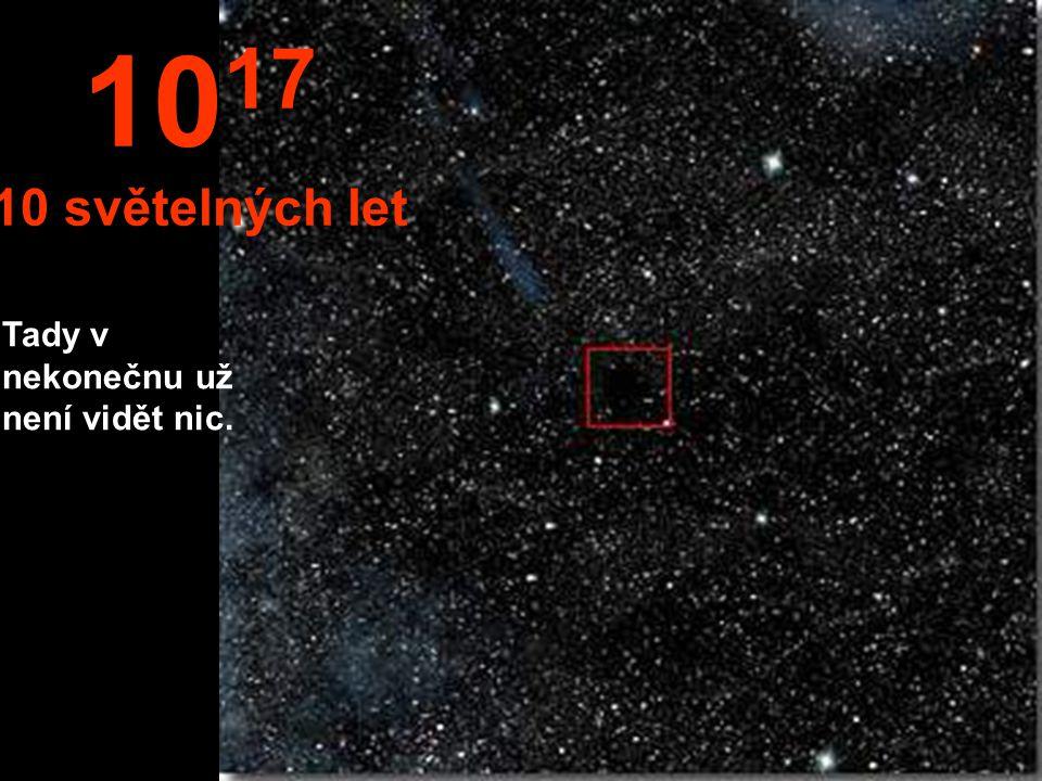 Ve vzdálenosti 1 světelného roku je Slunce jako velice malá hvězda. 10 16 1 světelný rok