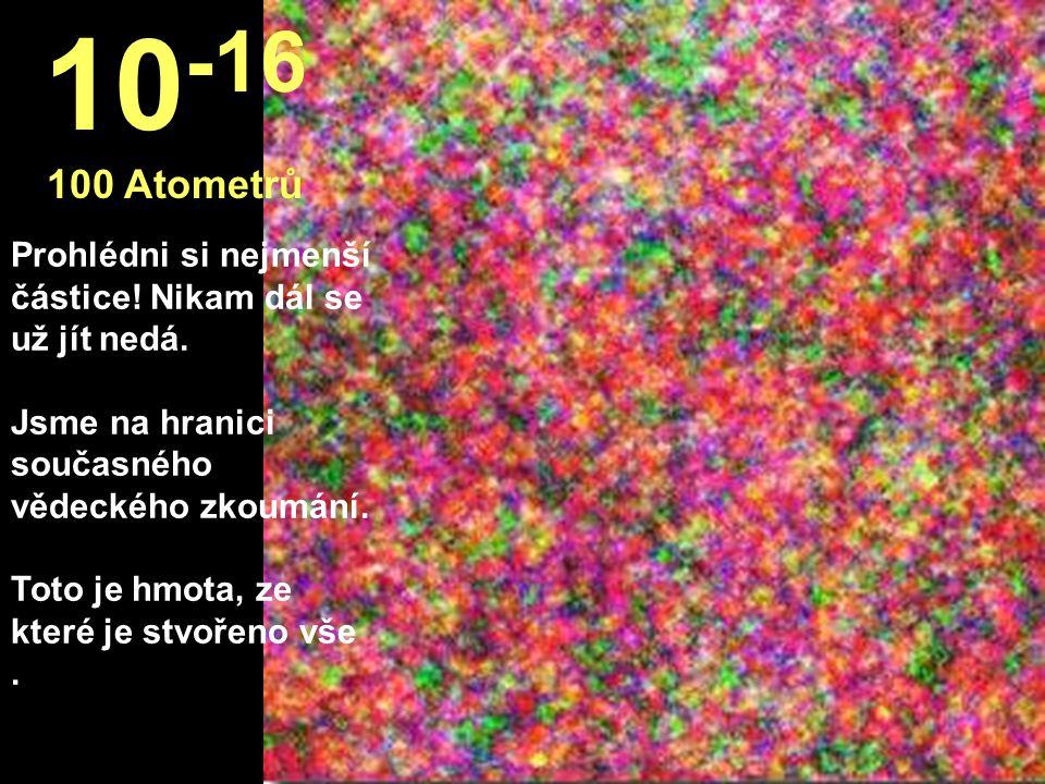 Tady jsme na poli sci-fi, tváří v tvář protonům. 10 -15 100 Fotometrů