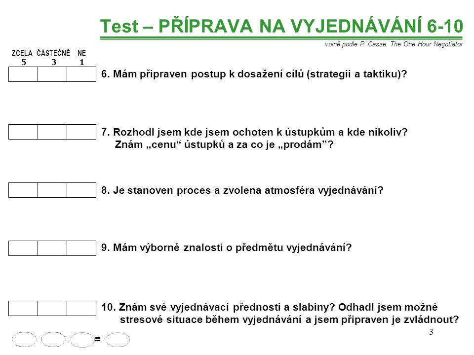 3 Test – PŘÍPRAVA NA VYJEDNÁVÁNÍ 6-10 6.