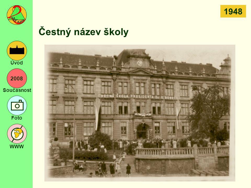 2008 Současnost Foto WWW Úvod Čestný název školy 1948