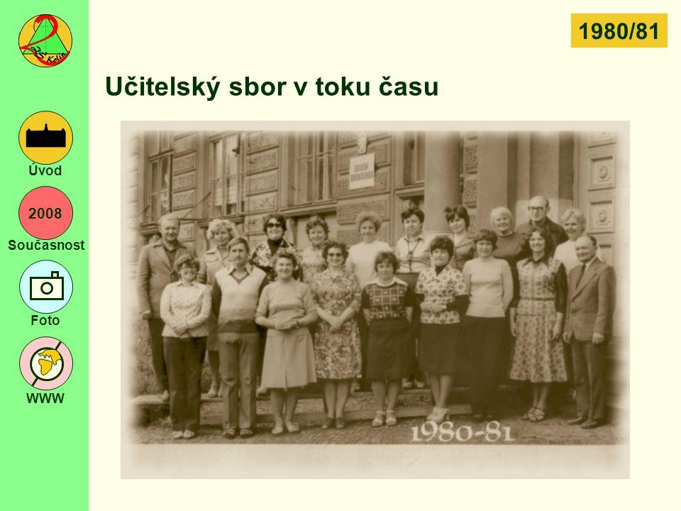 2008 Současnost Foto WWW Úvod Učitelský sbor v toku času 1980/81