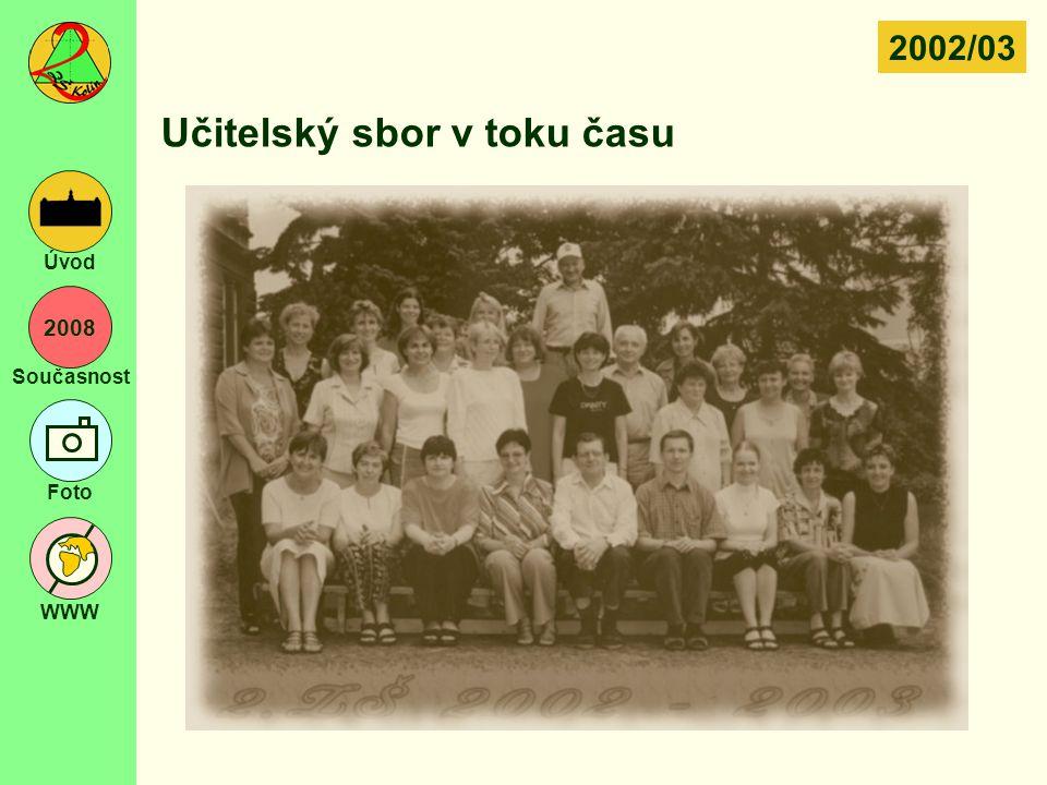 2008 Současnost Foto WWW Úvod Učitelský sbor v toku času 2002/03