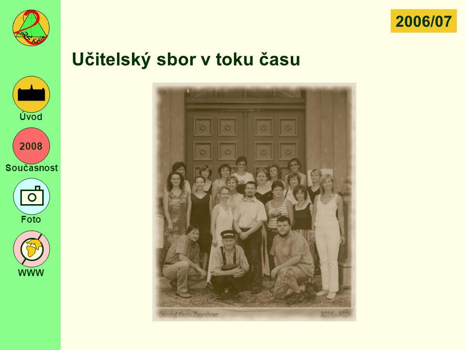 2008 Současnost Foto WWW Úvod Učitelský sbor v toku času 2006/07