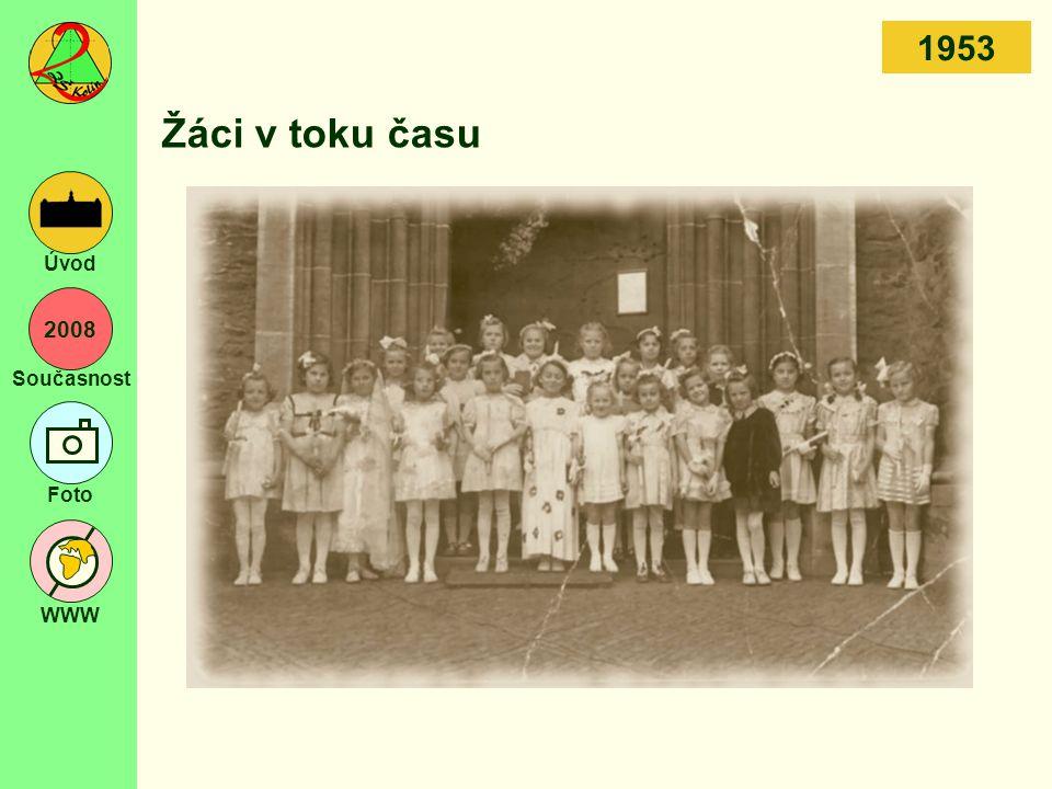 2008 Současnost Foto WWW Úvod Žáci v toku času 1953