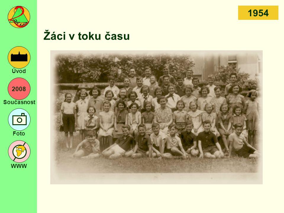 2008 Současnost Foto WWW Úvod Žáci v toku času 1954